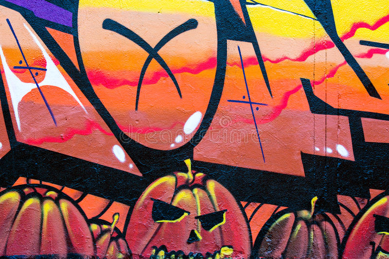 Grafittis da rua fotografia de stock
