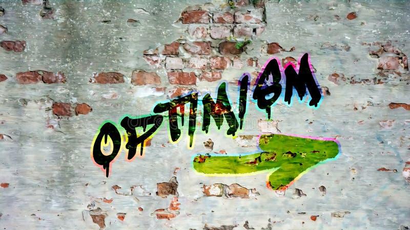 Grafittis da rua ao otimismo ilustração do vetor