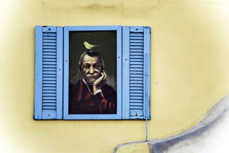 Grafittis da rua em Limassol Chipre fotografia de stock royalty free