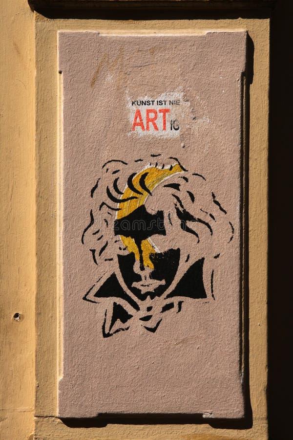 Grafittis de Beethoven em Bona, Alemanha fotografia de stock