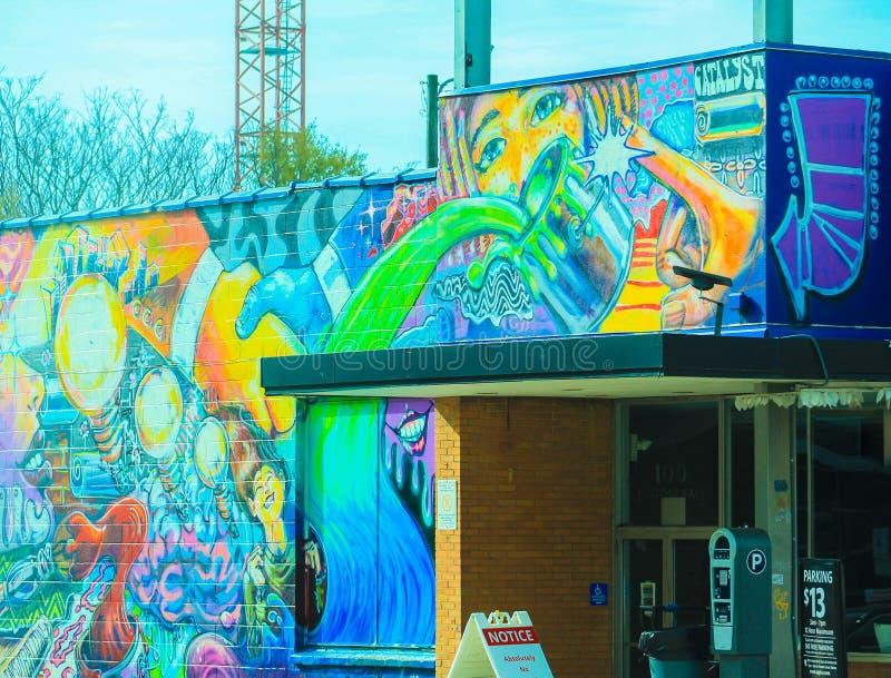 Grafittis de Charlotte NC imagens de stock