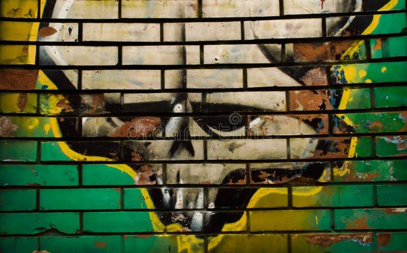 Grafittis do crânio foto de stock royalty free