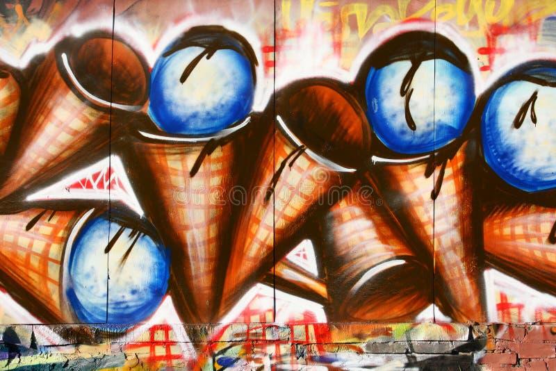 Grafittis do gelado fotos de stock royalty free