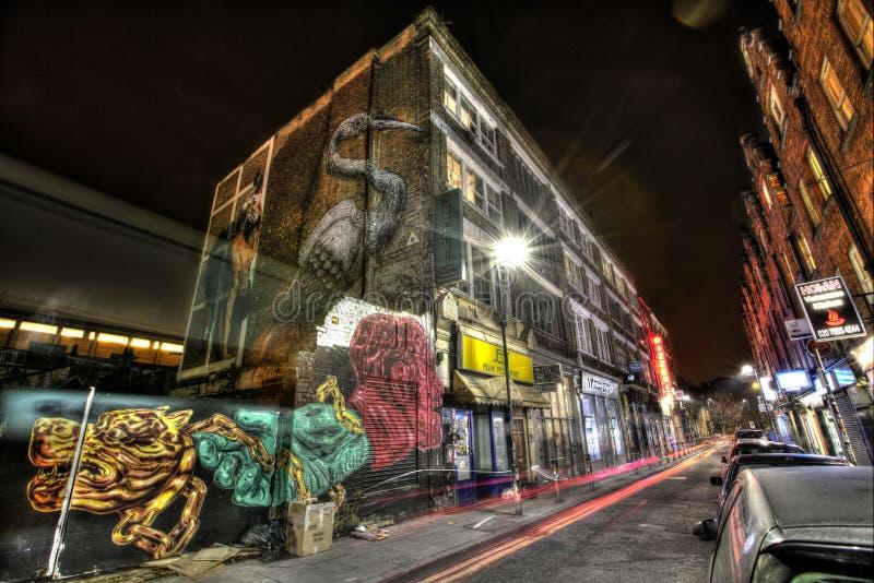 Grafittis do leste de Londres imagens de stock royalty free