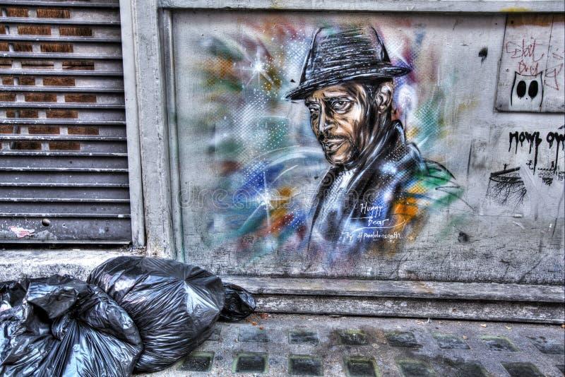 Grafittis do leste de Londres fotografia de stock royalty free