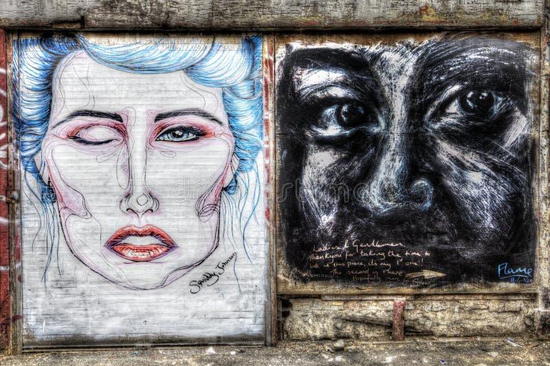 Grafittis do leste de Londres fotos de stock