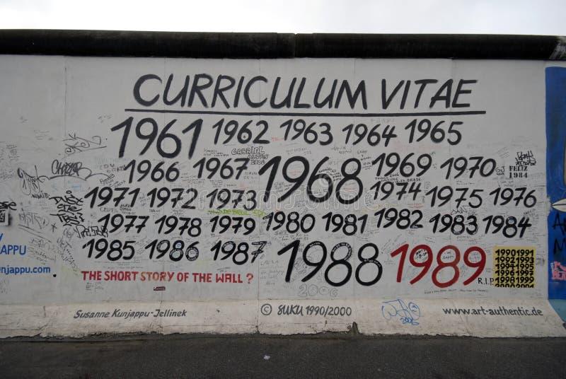 Grafittis do muro de Berlim foto de stock