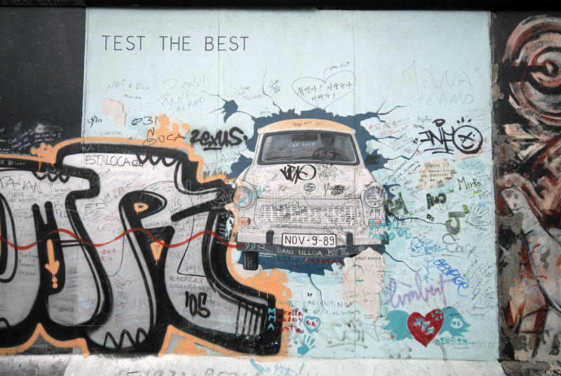 Grafittis do muro de Berlim imagem de stock royalty free