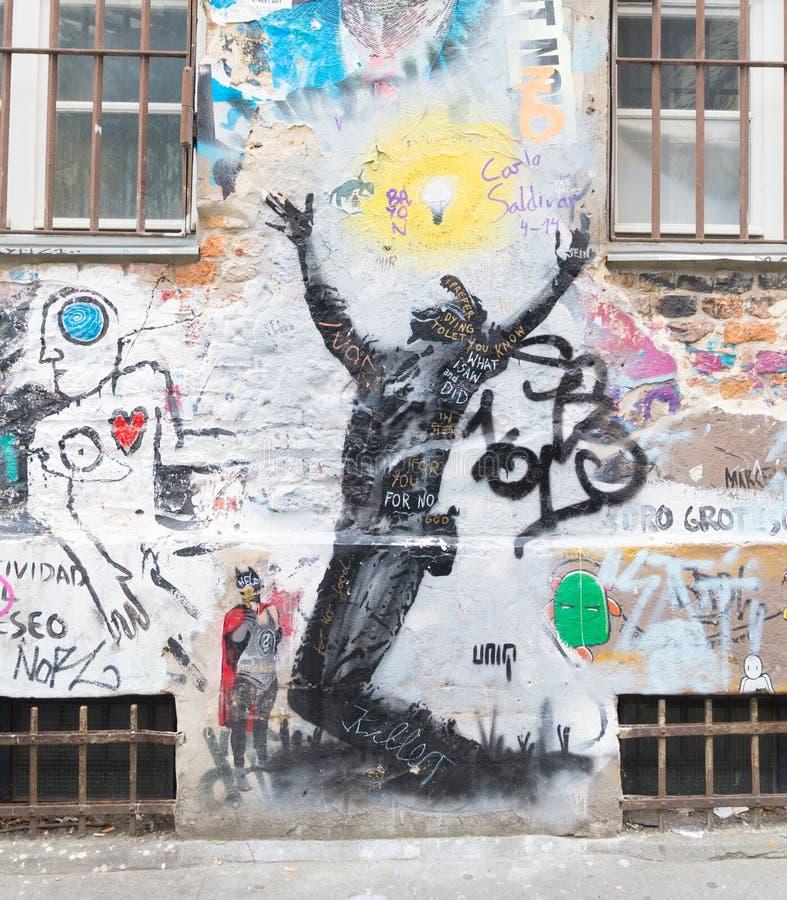 Grafittis em Berlim imagem de stock royalty free