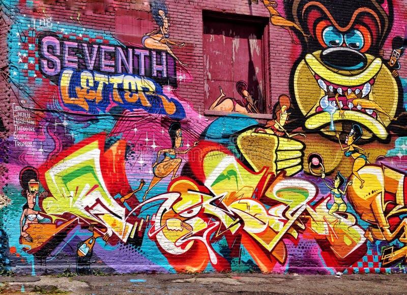 Grafittis em Detroit imagens de stock royalty free