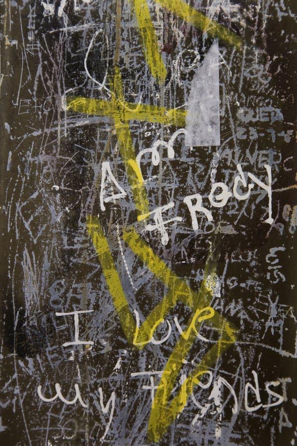 Grafittis em Lisboa, Portugal. imagem de stock