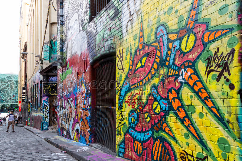 Download Grafittis Em Melbourne' S Laneways Foto Editorial - Imagem de povos, pintura: 65580251