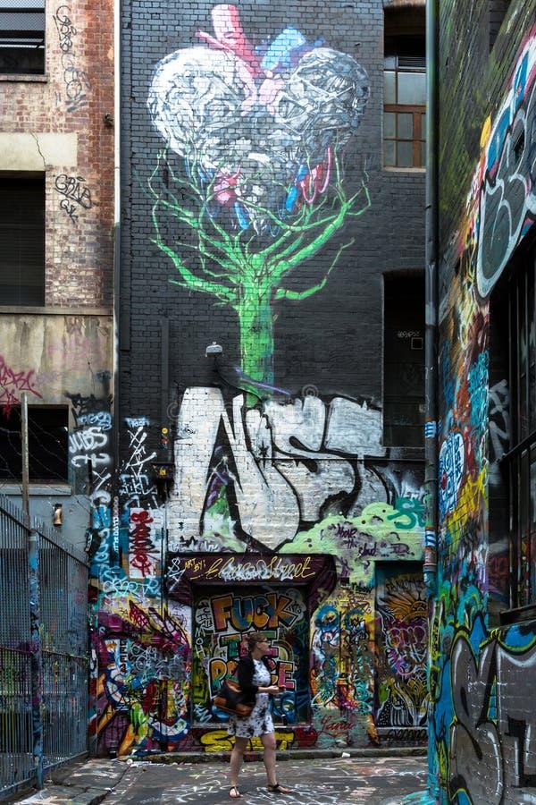 Download Grafittis Em Melbourne' S Laneways Fotografia Editorial - Imagem de concreto, cidade: 65580337