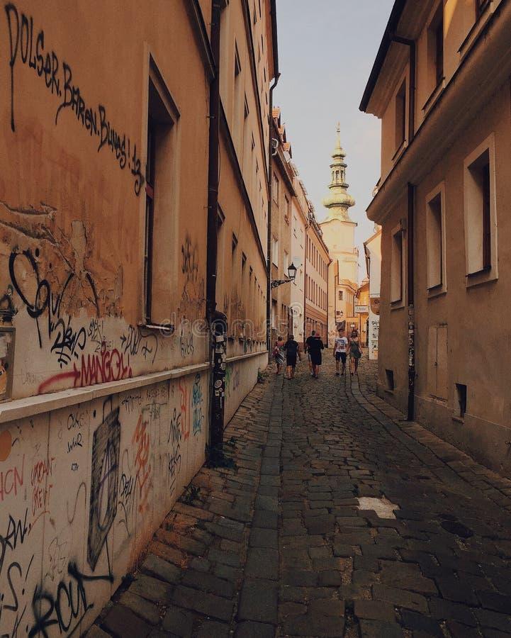 Grafittis em paredes, Bratislava, Eslováquia foto de stock royalty free