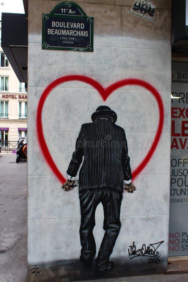 Grafittis em Paris fotos de stock royalty free
