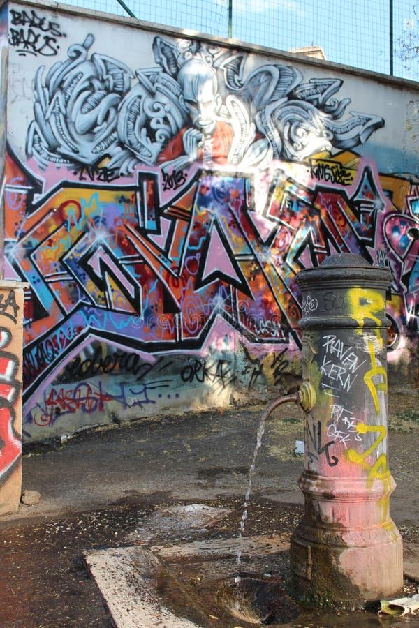 Grafittis em Roma fotografia de stock royalty free