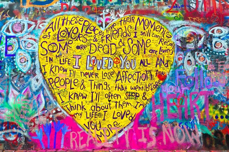 Grafittis em uma parede ilustração do vetor