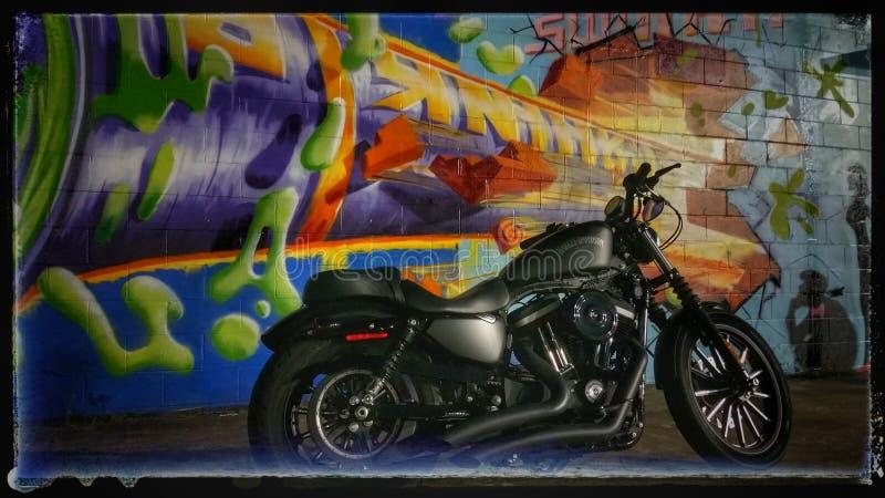 Grafittis HD883 imagem de stock