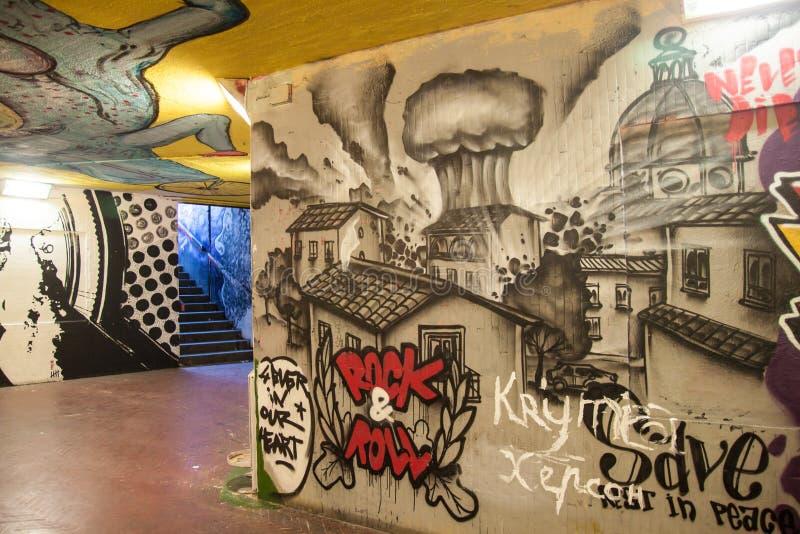 Grafittis italianos fotografia de stock royalty free