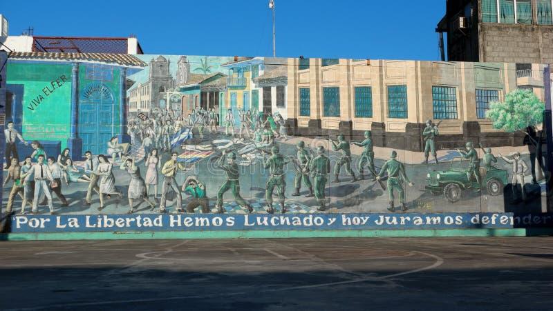 Grafittis, Leon, Nicarágua fotos de stock royalty free