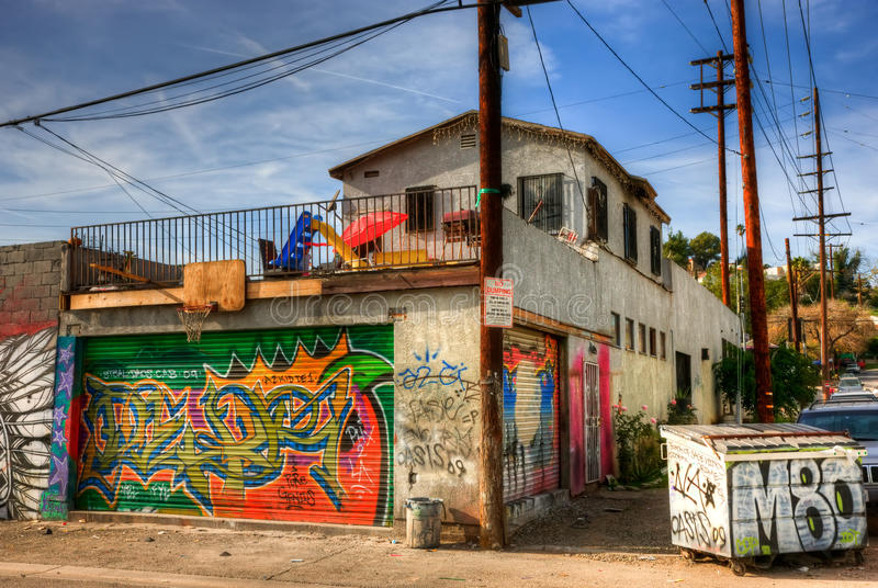 Grafittis Los Angeles do leste imagem de stock