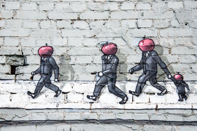 Grafittis na parede foto de stock royalty free