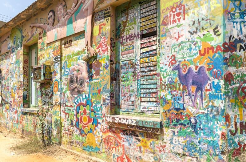 Grafittis nas ruas de Tel Aviv imagens de stock royalty free