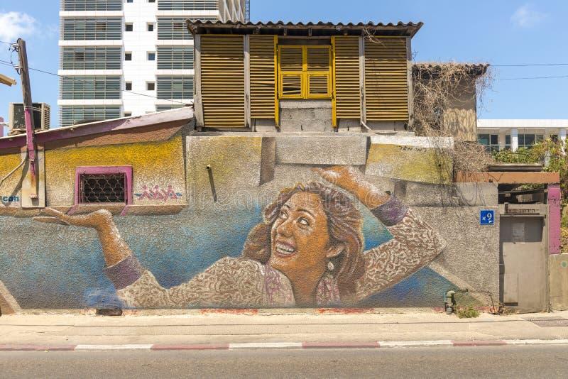 Grafittis nas ruas de Tel Aviv foto de stock