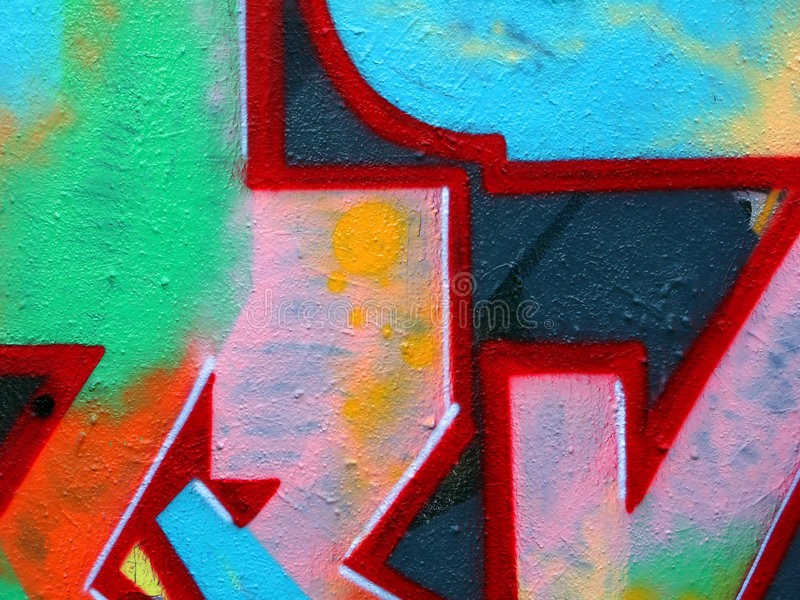 Grafittis, Praga imagem de stock royalty free