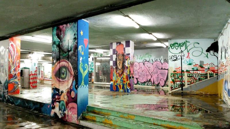 grafittis subterrâneos imagens de stock royalty free