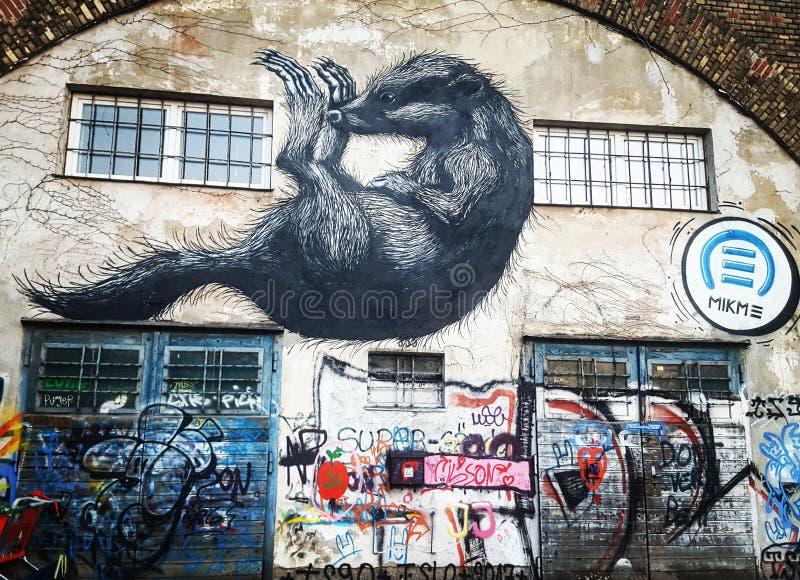 Grafittis Viena fotografia de stock