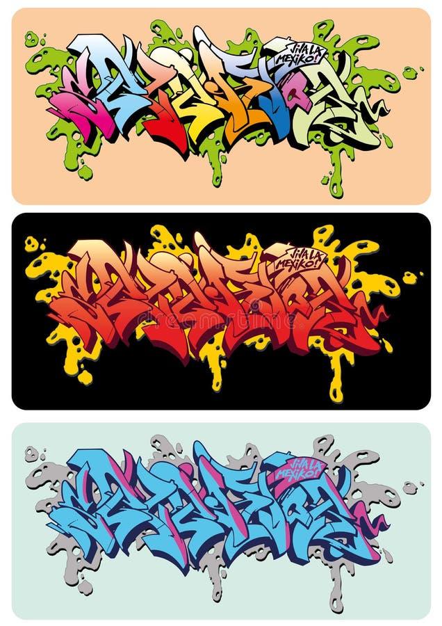 grafittiselektor stock illustrationer