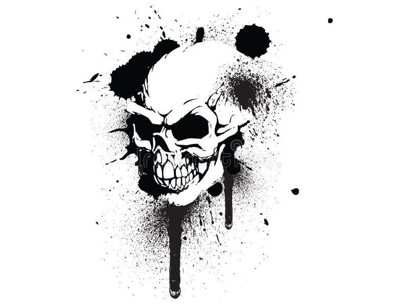 grafittiskalle vektor illustrationer