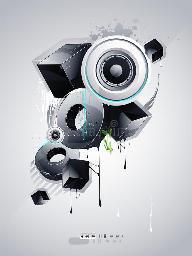 grafittistil vektor illustrationer