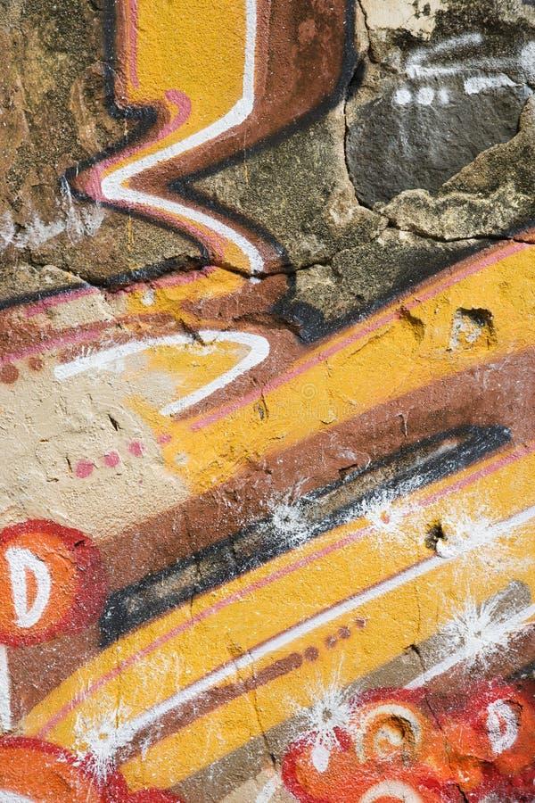 grafittivägg royaltyfri illustrationer