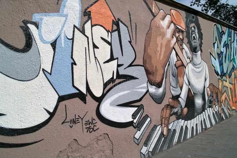 grafittivägg arkivfoto