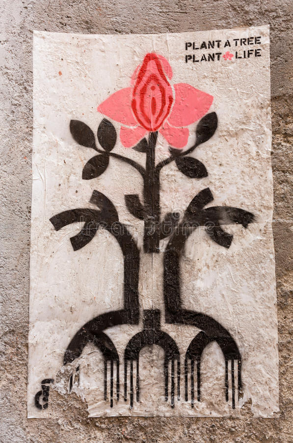 Grafittivägg i Rome royaltyfri foto