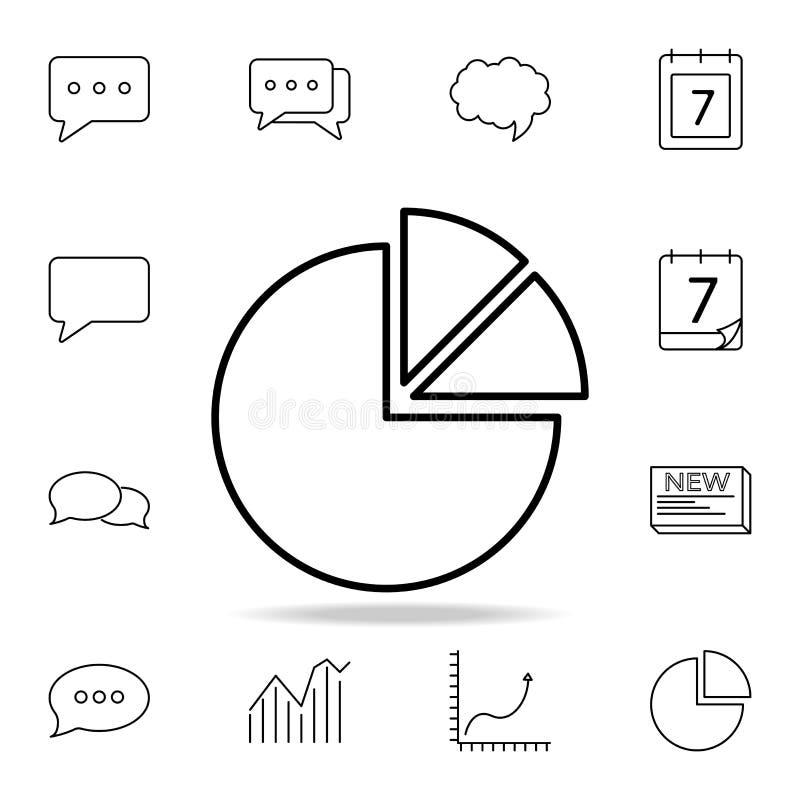 Grafpajsymbol Detaljerad uppsättning av enkla symboler Högvärdig grafisk design En av samlingssymbolerna för websites, rengörings royaltyfri illustrationer