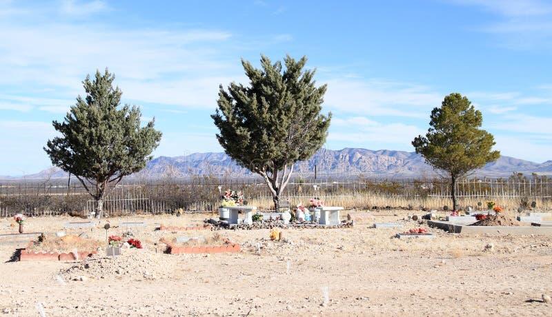 Grafsteen, Arizona: Woestijnbegraafplaats stock fotografie