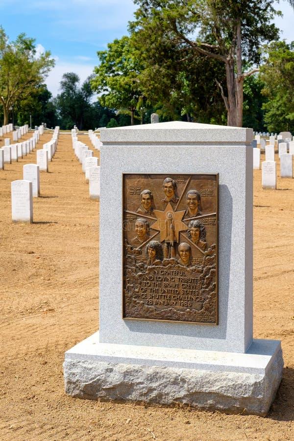 Grafsteen in geheugen van de bemanning van het Ruimteveer Eiser royalty-vrije stock fotografie