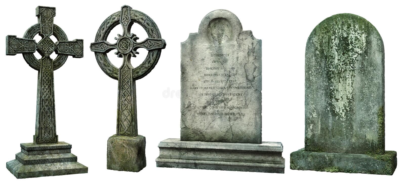 Grafstenen 3D illustratie stock illustratie
