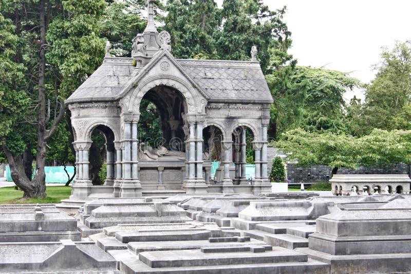 Grafstenen in Glasnevin-Begraafplaats, Ierland royalty-vrije stock afbeeldingen