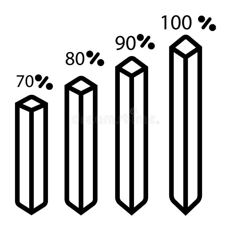 Grafsymbolsvektor stock illustrationer
