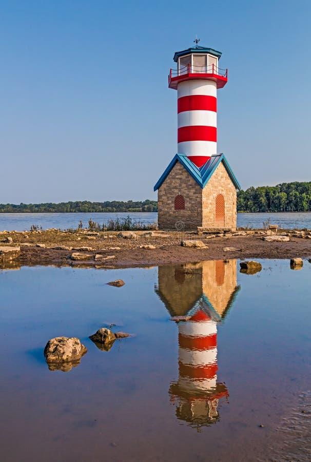 Grafton Lighthouse i Illinois arkivfoto