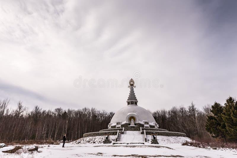 Download Grafton Pokoju Pagoda W Zimie - Petersburgh, NY Zdjęcie Editorial - Obraz złożonej z aktywizm, chmury: 106919271