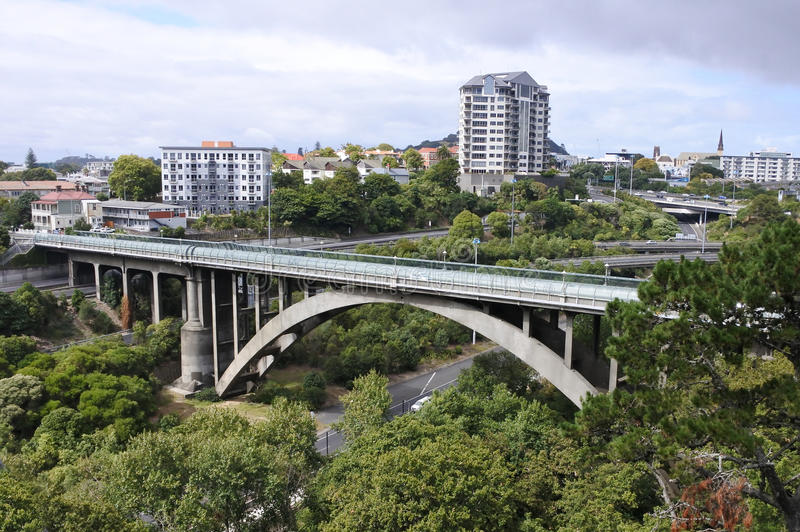 Grafton Road Bridge Auckland New Zealand imagem de stock