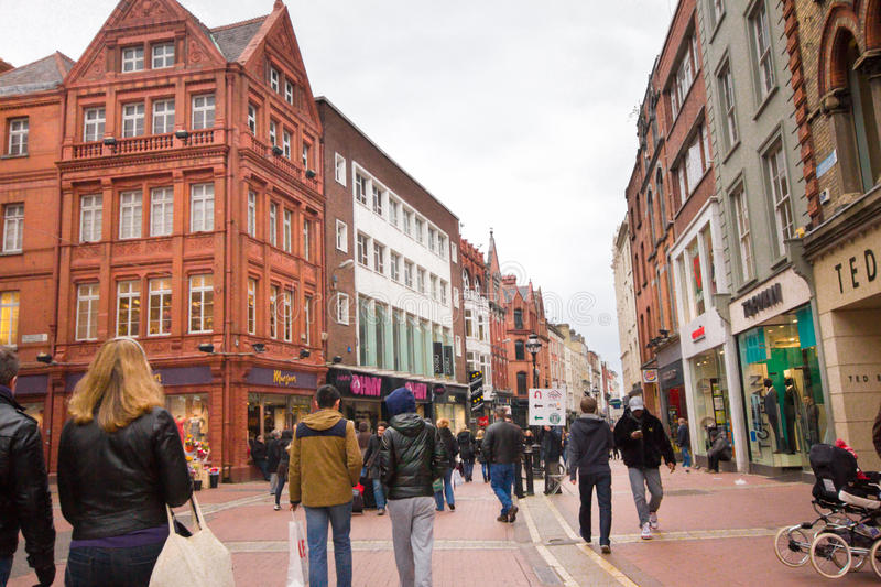Grafton Street Dublin photo stock