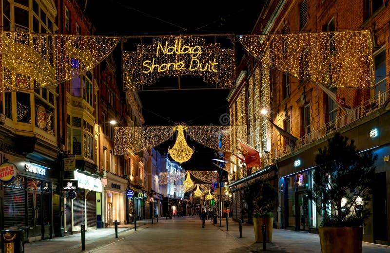 Grafton Street, Dublin, Irlanda imagens de stock