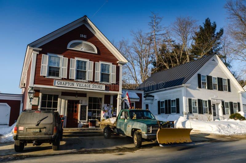 Grafton Village Store - Grafton, Vermont arkivbild