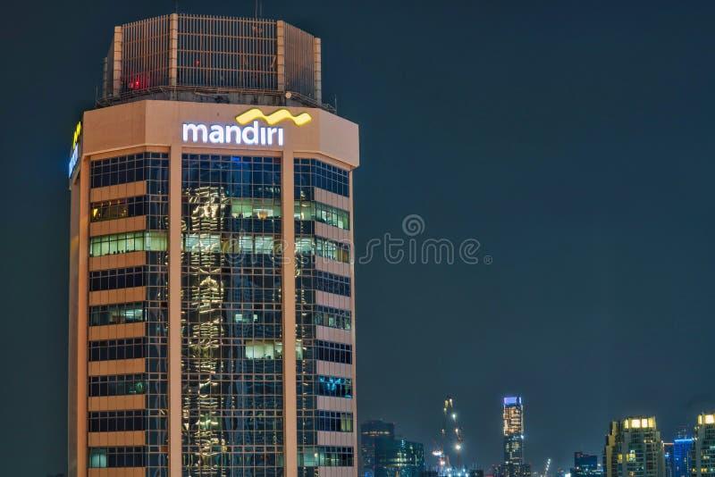 Graha Mandiri byggnad fotografering för bildbyråer